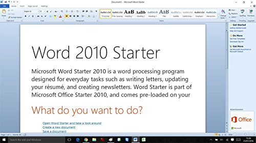what is microsoft word starter 2010