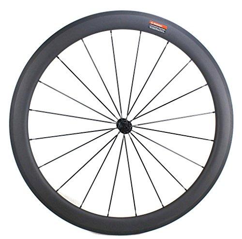 Road Bike Wheel set 50mm Clincher Carbon Fiber Matte 25mm Width For Shimano or Sram 10/11 Speed 700C Wheels by WOKECYC (Image #4)