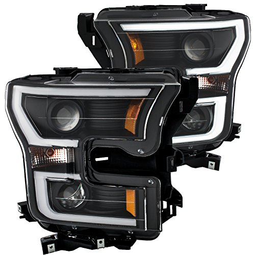 ANZO 111347 PROJECTOR PLANK STYLE H.L. BLACK CLEAR AMBER FORD F-150 15 - 17