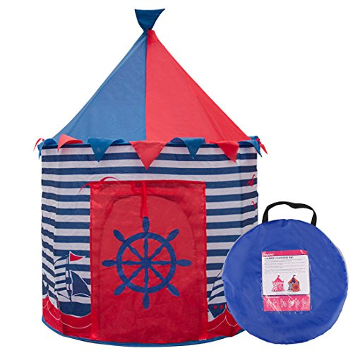 Ava & Kings Kids Play Tent Childrens Pop Up Playhouse Fort for Toddler Bedroom, Indoor or Outdoor | Little Boys Toys Pretend Beach Sailor Clubhouse| Easy Set-Up & Simple to Clean