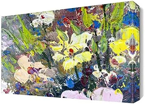 Dekorsevgisi Renkli Cicekler Yagli Boya Tablosu 150x100