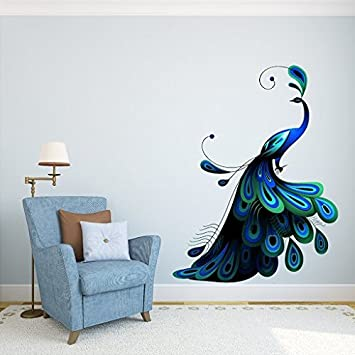 Wonderful DeStudio U0027Peacocku0027 Wall Sticker (PVC Vinyl, 110 Cm X 90 Cm, Part 6