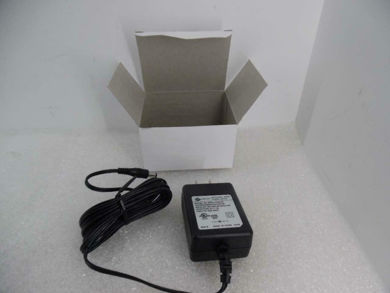 """CUI EPAS-101W-05 AC/DC Switching Wall Adapter, 5V, 2A, 10W, 2.4"""" H x 1.7"""" W x 1.0"""" D, Black"""