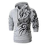 haoricu Men's Long Sleeve Design Graphic Printed Hoodie Winter Hooded Sweatshirt Top Tee