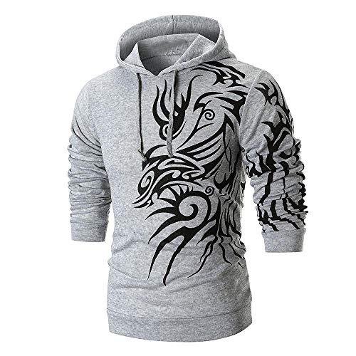 haoricu Men's Long Sleeve Design Graphic Printed Hoodie Winter Hooded Sweatshirt Top Tee by haoricu