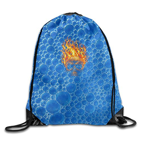 2018 Flame Devil Skull Drawstring Bags Jogging Backpack Sport Bag For Men & Women