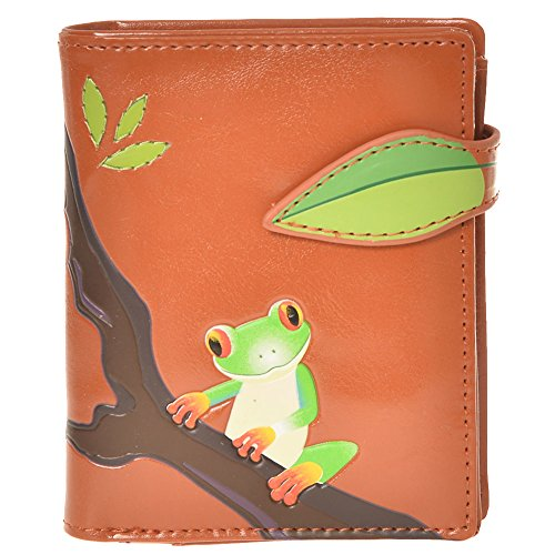 Shagwear Women's Small Wallet Tree Frog Orange Small Tree Frog