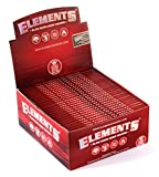 slow burn rolling papers - 1 box - Elements RED King Size Slow Burn Hemp rolling paper - total 1650 papers