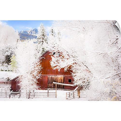 CANVAS ON DEMAND Snow Blankets Ralph Lauren's Double RL Ranch, Mount Sneffels Range, CO Wall Peel Art Print, 48