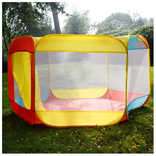 Folding Portable Playpen Baby Play Yard With Travel Bag Indoor Outdoor Safety from Unbranded*