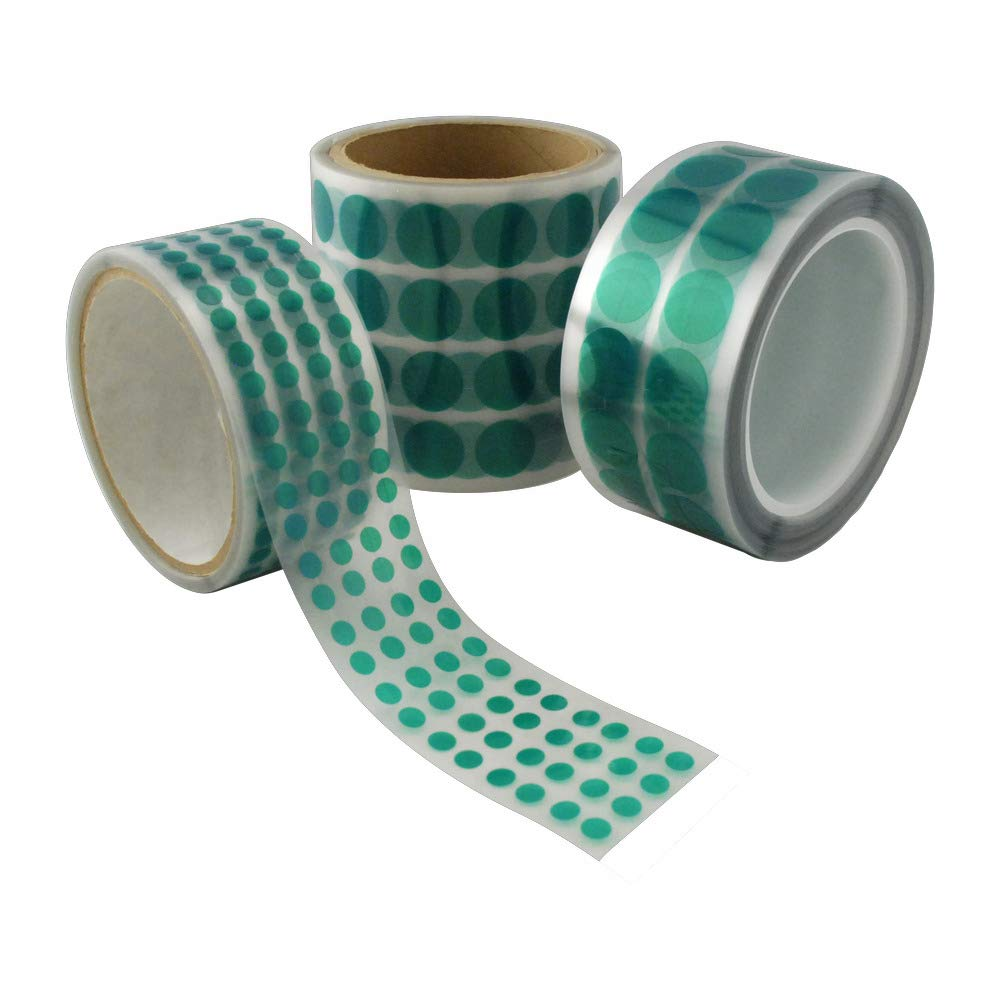 Polyester Discs .750 (3/4) Dia Green Polyester Discs, 2000-Ct Roll MOCAP Poly-DOT-.750 (qty1)