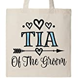Inktastic - Tia Of The Groom Wedding Aunt Tote Bag Natural 2f313