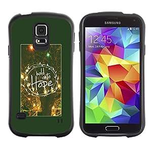LASTONE PHONE CASE / Suave Silicona Caso Carcasa de Caucho Funda para Samsung Galaxy S5 SM-G900 / hope motivational poster winter night