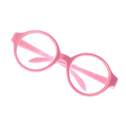 9cc3db4b06 Amazon.com  Jili Online Pair of Round Frame Eye Glasses for 18   American  Girl My Life Dolls Pink  Toys   Games