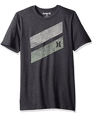 Men's Premium Icon Slash Graphic Short Sleeve Tee Shirt