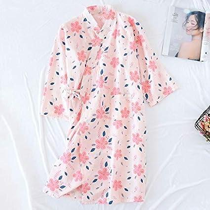 Albornoz Pijamas japoneses color fresco sección delgada Sra ...