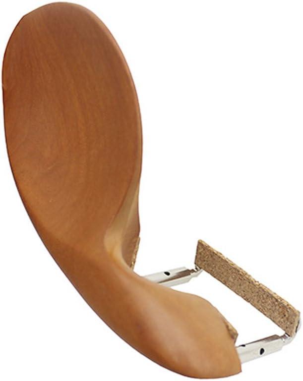Violin Chin Rest Wooden Violin Chin Rest Bracket with Cork for 3//4 4//4 Violin