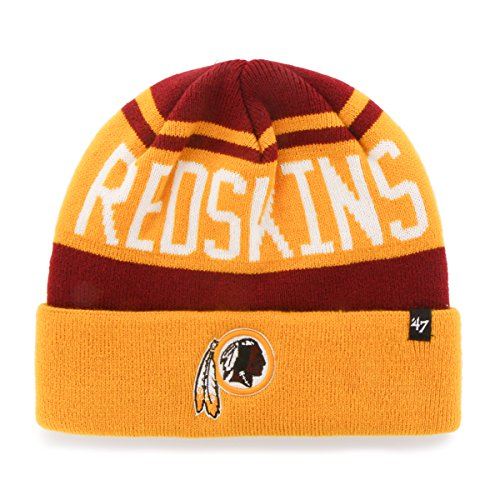 NFL Washington Redskins '47 Rift Cuff Knit Beanie, One Size, Razor Red (Nfl Football Hats compare prices)