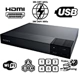 SONY BDP-S3700 High Res Audio - Built-in WiFi - Multi System Region Free Blu Ray Disc DVD Player