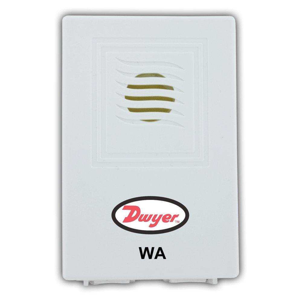 Dwyer WA Water Leak Detector, Low-Cost Compact Design, Wall Mount, Loud Alarm