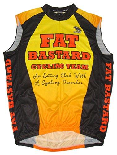 Suarez Fat Bastard Cycling Team Bicycle Jersey Sleeveless Mens 3XL Yellow Orange