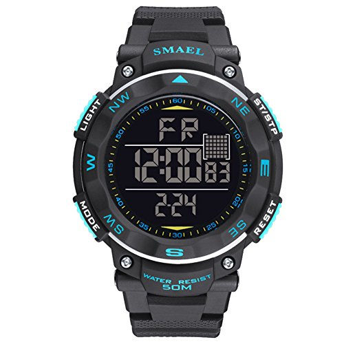 ETbotu Children LED Electronic Digital Luminous Multifunction PU Strap Waterproof Alarm Calendar watches by ETbotu (Image #6)