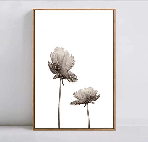 Neyouyou Tinta Simple Flores Cuadros Decorativos Cuadro Modular Arte de la Pared Pintura en Lienzo para Sala de Estar Sin Marco, Amarillo, 40cmx60cmx1pc: Amazon.es: Hogar