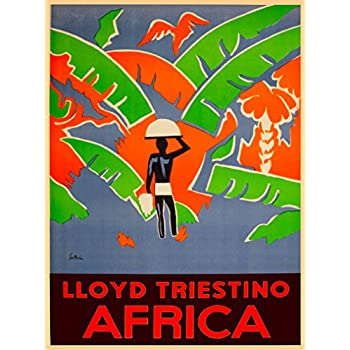 Zanzibar Island Tanzania East Africa Travel Advertisement  Art Poster Print