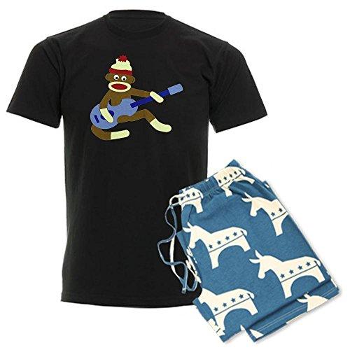 CafePress - Sock Monkey Blue Guitar - Unisex