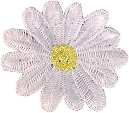 10X Small Daisy Flower Embroidery Iron On Patches Applique DIY Craft Decoration