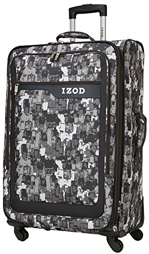 IZOD Academy 24-Inch 4 Wheel Expandable Upright, Grey Cam...