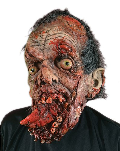 Zagone Bite Your Tongue Mask, Gory Zombie Dead