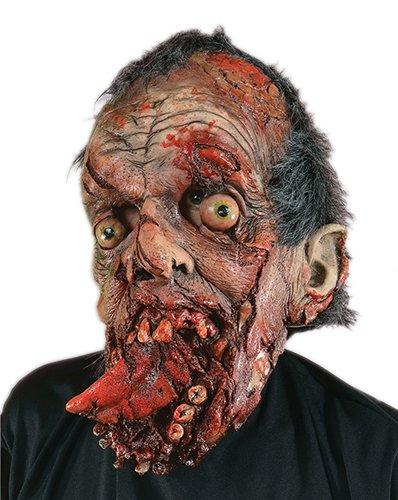 Zagone Bite Your Tongue Mask, Gory Zombie Dead Monster Roadkill