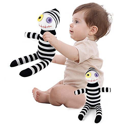 [LUCKSTAR Clown Doll - Handmade Black & White Sock Clown Doll Baby Gift Stuffed Toy DIY Clown Doll Toy Perfect Christmas & Birthday Gift for Children or Girlfriend] (Killer Ballerina Costume)