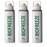 Biofreeze Pain Relief 360 Spray for Arthritis, Cold Topical Analgesic, Fast Acting Cooling Pain Reliever for Muscle, Joint, and Back Pain, Colorless Formula, Pack of 3, 4 oz. Bottles, 10.5% Menthol