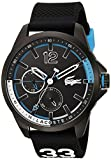 Lacoste Men's CAPBRETON Quartz Watch with Silicone Strap, Black, 20 (Model: 2010896)