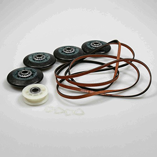 Elite Four - Kenmore LG elite steam Dryer Belt, Pulley and 4 Roller kit COUP578 Fits AP4438625-Kit