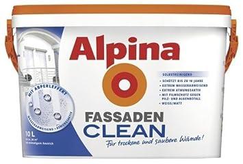 Außenfarbe alpina fassadenclean außenfarbe weiß 10 l selbstreinigend neu
