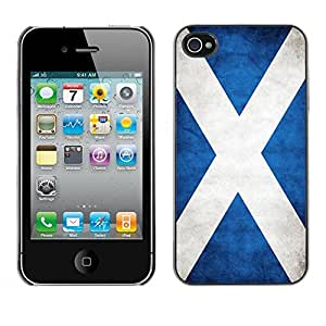 Be Good Phone Accessory // Dura Cáscara cubierta Protectora Caso Carcasa Funda de Protección para Apple Iphone 4 / 4S // National Flag Nation Country Scotland