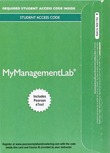MyLab Management with Pearson eText    Access Card    for International Business The Challenges of Globalization