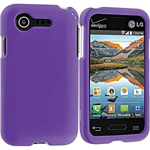 Accessory Planet(TM) Purple Hard Snap-On Matte Rubberized Case Cover Accessory for LG Optimus Zone 2