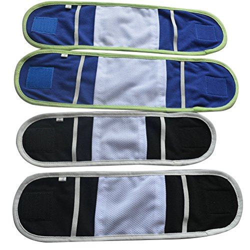 UEETEK 3pcs Reusable Dog Diapers and Belly Bands for Small Male Boy Dog Puppy Size 13