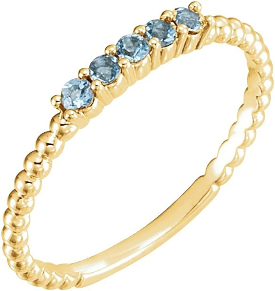 Jewels By Lux 14K Yellow Gold Beaded Ring Size 7