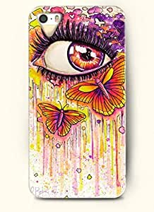 SevenArc Phone Case Design with Limpid Red Eye and Butterfly for Apple iPhone 5 5s 5g