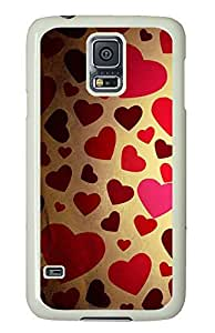 Samsung S5 case coolest Cute Background Love PC White Custom Samsung Galaxy S5 Case Cover