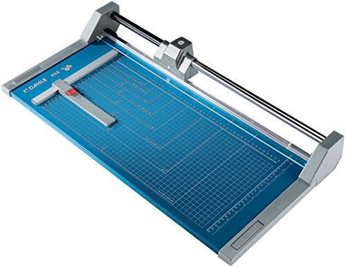 "Dahle 552 Professional Rolling Trimmer 20"" Cut Length 20 Sheet Capacity Self-Sharpening Automatic Clamp German Engineered Paper Cutter"