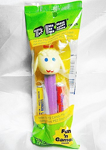 Vintage Easter Lamb  Rare With No Pupils  Pez Dispenser New In Sealed Factory Pkg With Candy