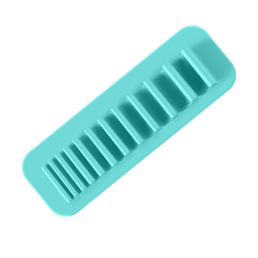TOPBATHY Soporte de Cepillo de Dientes Montado en La Pared de Silicona Ambiental Organizador de Pincel de Maquillaje Estante de Secado del Cepillo de Maquillaje para El Hogar Azul