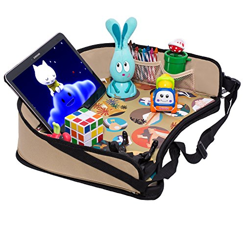 Toddler Car Seat Travel Tray By DMoose Reinforced Solid Surface Sturdy Side Walls
