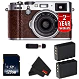 Fujifilm X100F 24.3 MP APS-C Digital Camera (International Version) (Brown 128GB Bundle) For Sale
